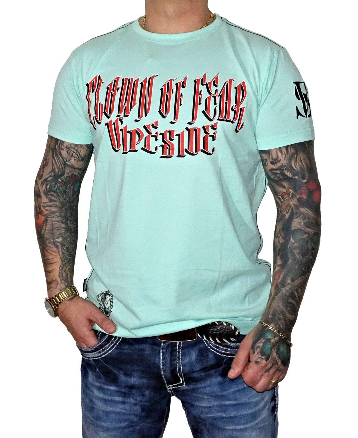 "Vipeside T-Shirt ""Clown of Fear"" TS-24 mint grün"