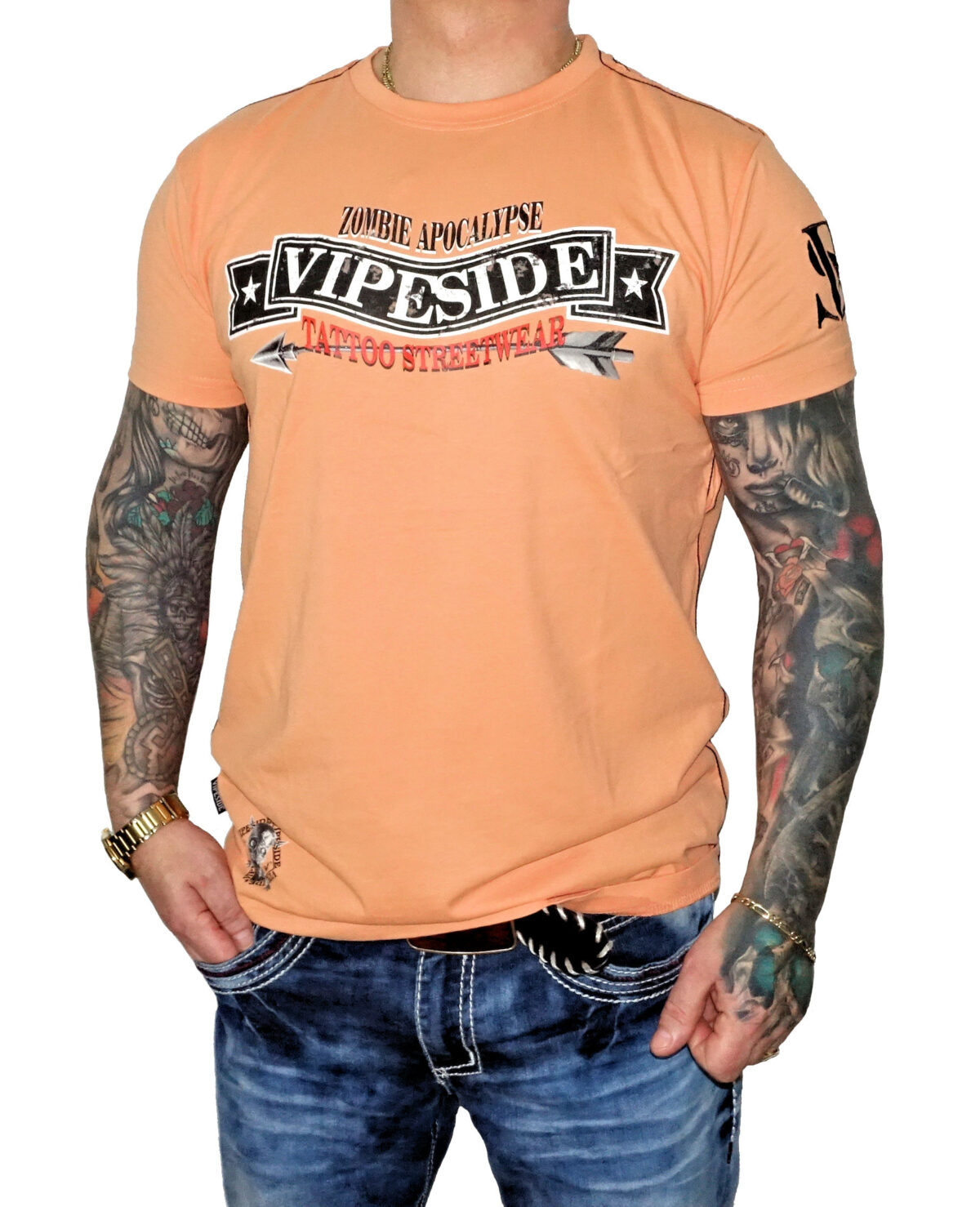 Vipeside T-Shirt Zombie Apocalypse TS-19 papaya