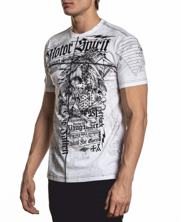 Affliction T-Shirt Mortal Coil A-22045 weiß