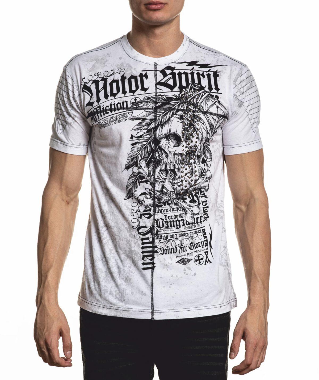 Affliction T-Shirt Mortal Coil A-22045 weiß