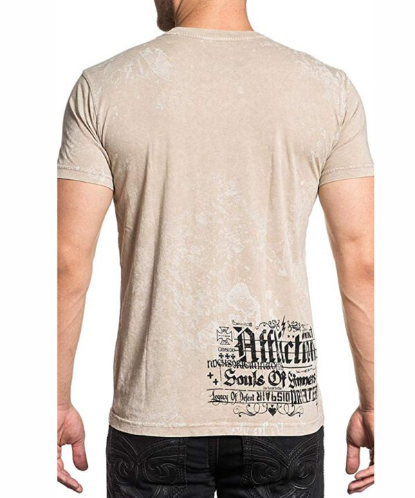 Affliction T-Shirt Fatal A-17844 sand