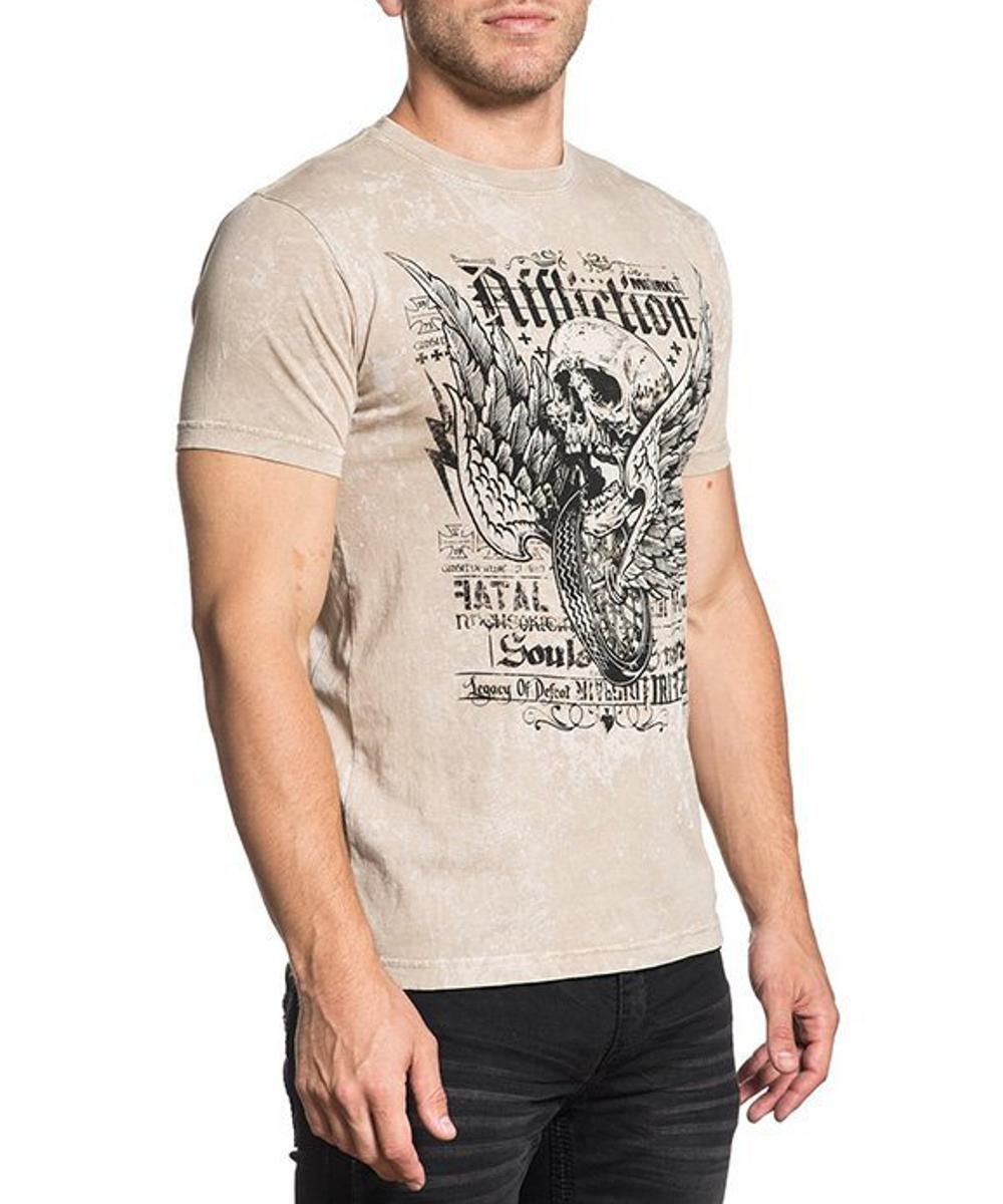 Affliction T-Shirt Fatal A-17844 sand
