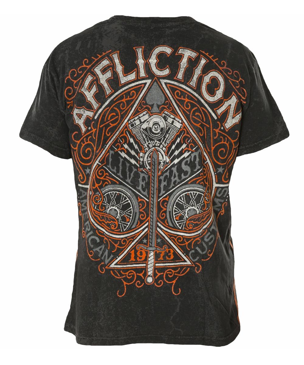 Affliction T-Shirt Spade A-14528 black