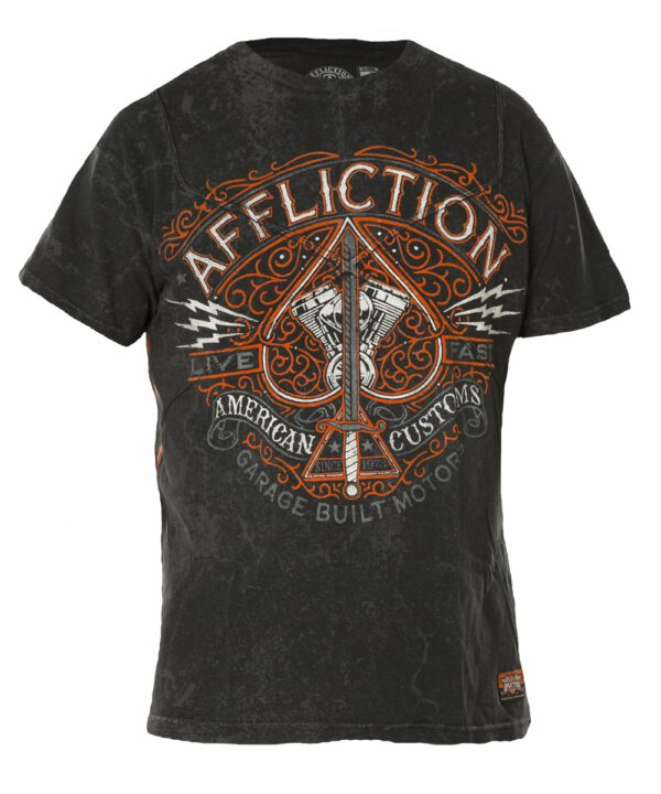 Affliction T-Shirt Spade A-14528 black
