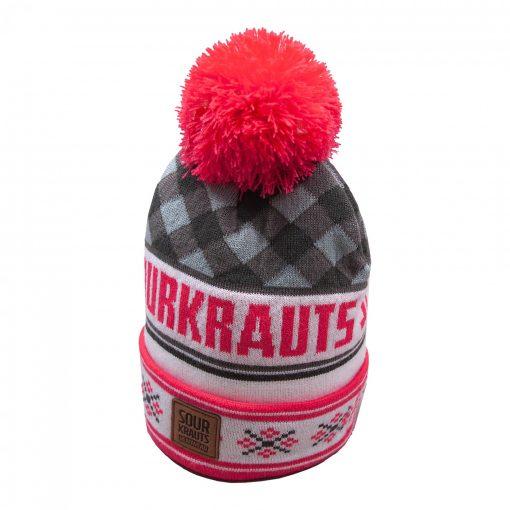 Sourkrauts bobblehat2019-grau-pink