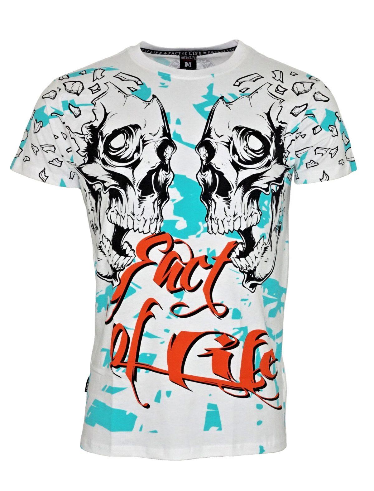 """Fact of Life T-Shirt TS-34 """"Destruction"""" weiß"""