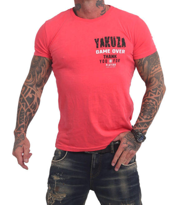 Yakuza Game Over T-Shirt TSB-16088 geranium