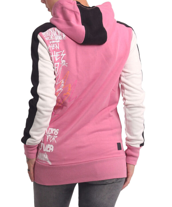 Yakuza Revival Two Face Long Kapuzenjacke GHZB-16104 wild rose