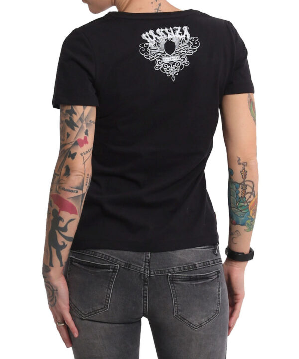 Yakuza Addiction V-Neck T-Shirt GSB-16123 schwarz
