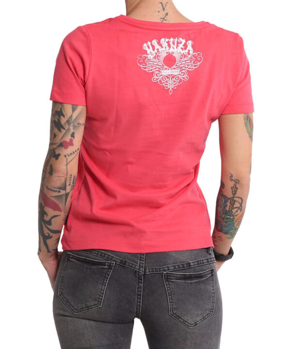 Yakuza Addiction V-Neck T-Shirt GSB-16123 geranium