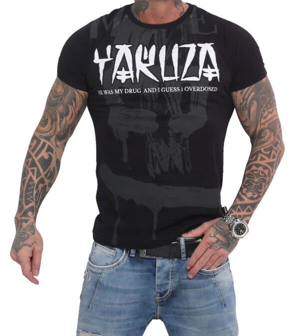 Yakuza Burning Skull T-Shirt TSB-16024 black