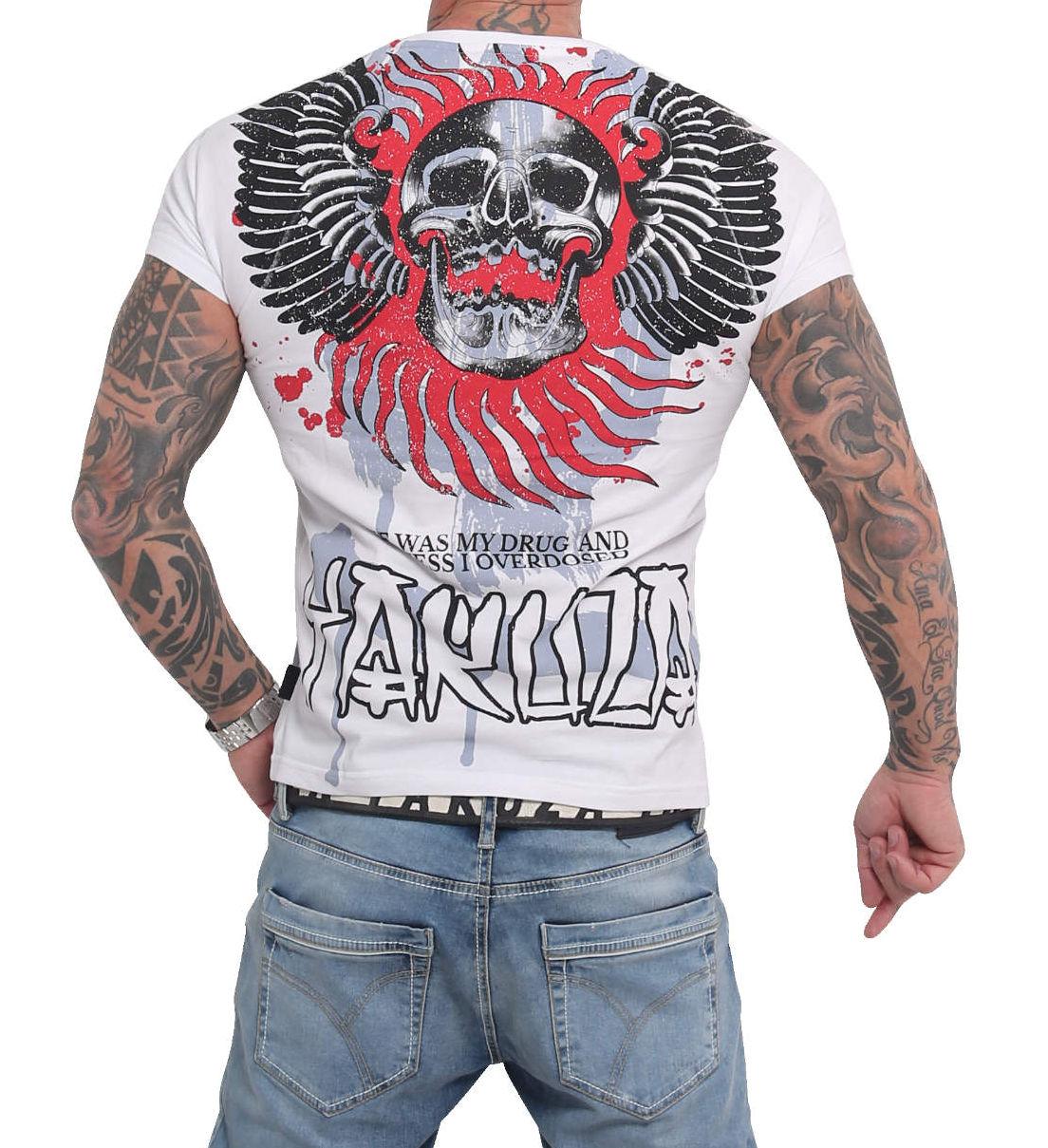 Yakuza Burning Skull T-Shirt TSB-16024 weiß