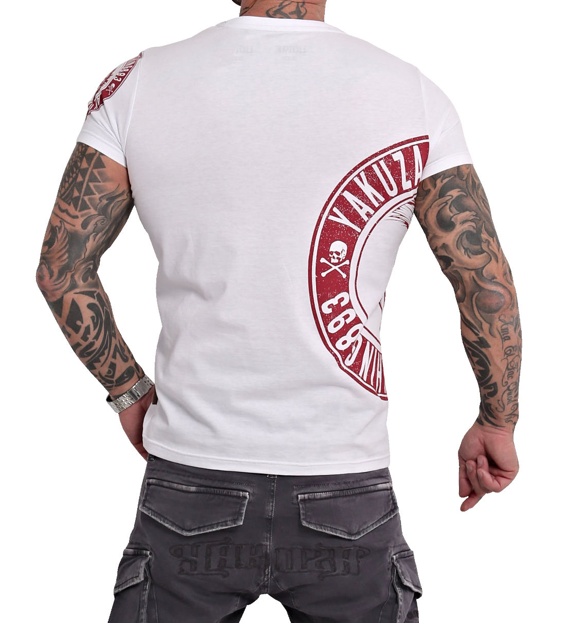 Yakuza Spartan T-Shirt TSB-16073 weiß