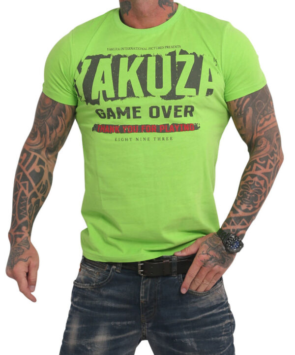 Yakuza Hating Clown T-Shirt TSB 17029 jasmin green