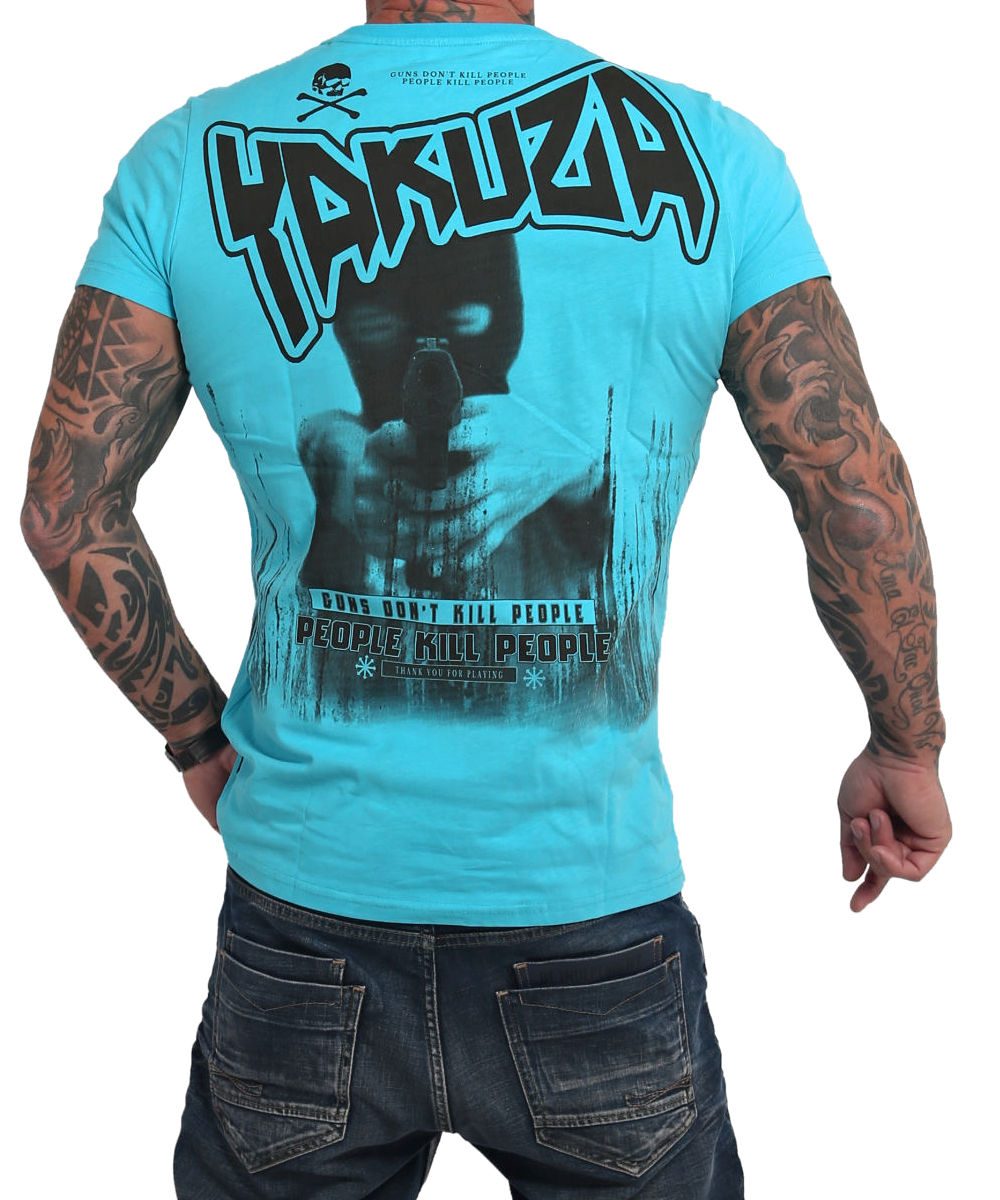 Yakuza Guns vs People T-Shirt TSB-17038 scuba blue