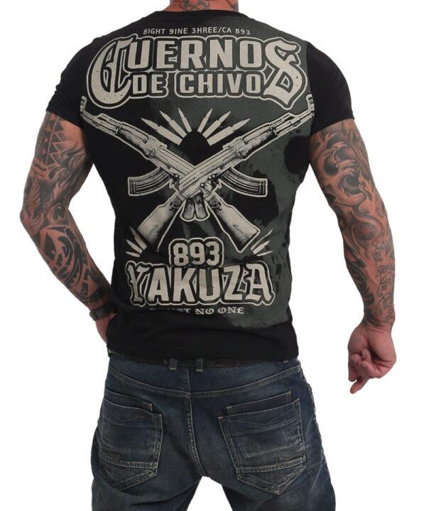 YAKUZA CUERNOS DE CHIVO SKULL T-Shirt für Herren