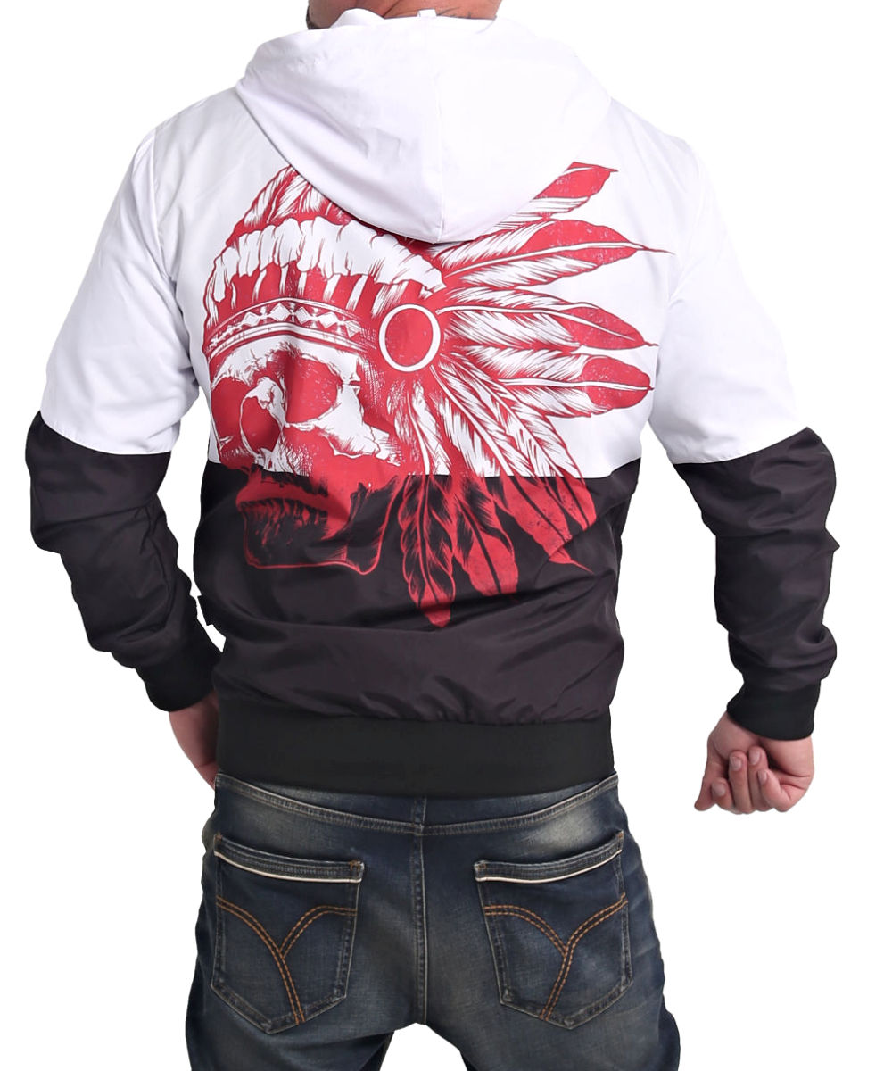 Yakuza Indian Skull Windbreaker WB-17054