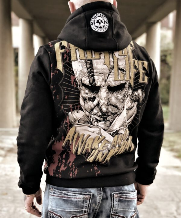 "Fact of Life Hoodie ""Awake and Unafraid"" SH-06 black"