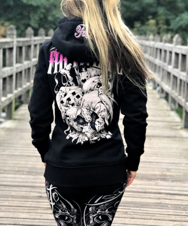 "Fact of Life Damen Hoodie ""Time is Over Lady"" GSH-02 black"