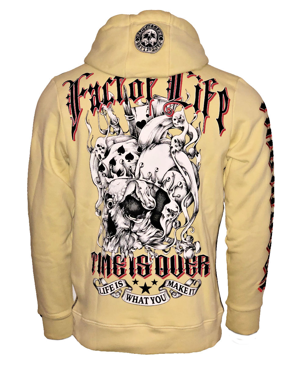 Fact of Life Hoodie Time is Over SH-08 pale banana