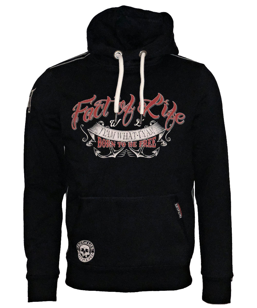 Fact of Life Hoodie Born to Be Free SH-05 black