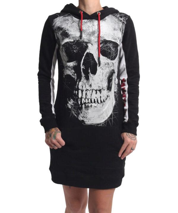 Yakuza Skull Two Face Hoodie Kleid GKB-17113