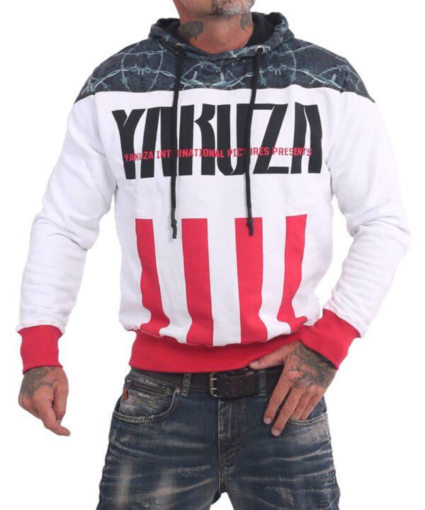 Yakuza Barbwire Hoodie HOB 16002 weiß