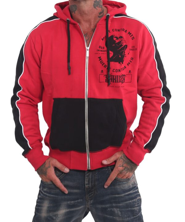 Yakuza Vintage Two Face Kapuzenjacke HZB 16006 ribbon red