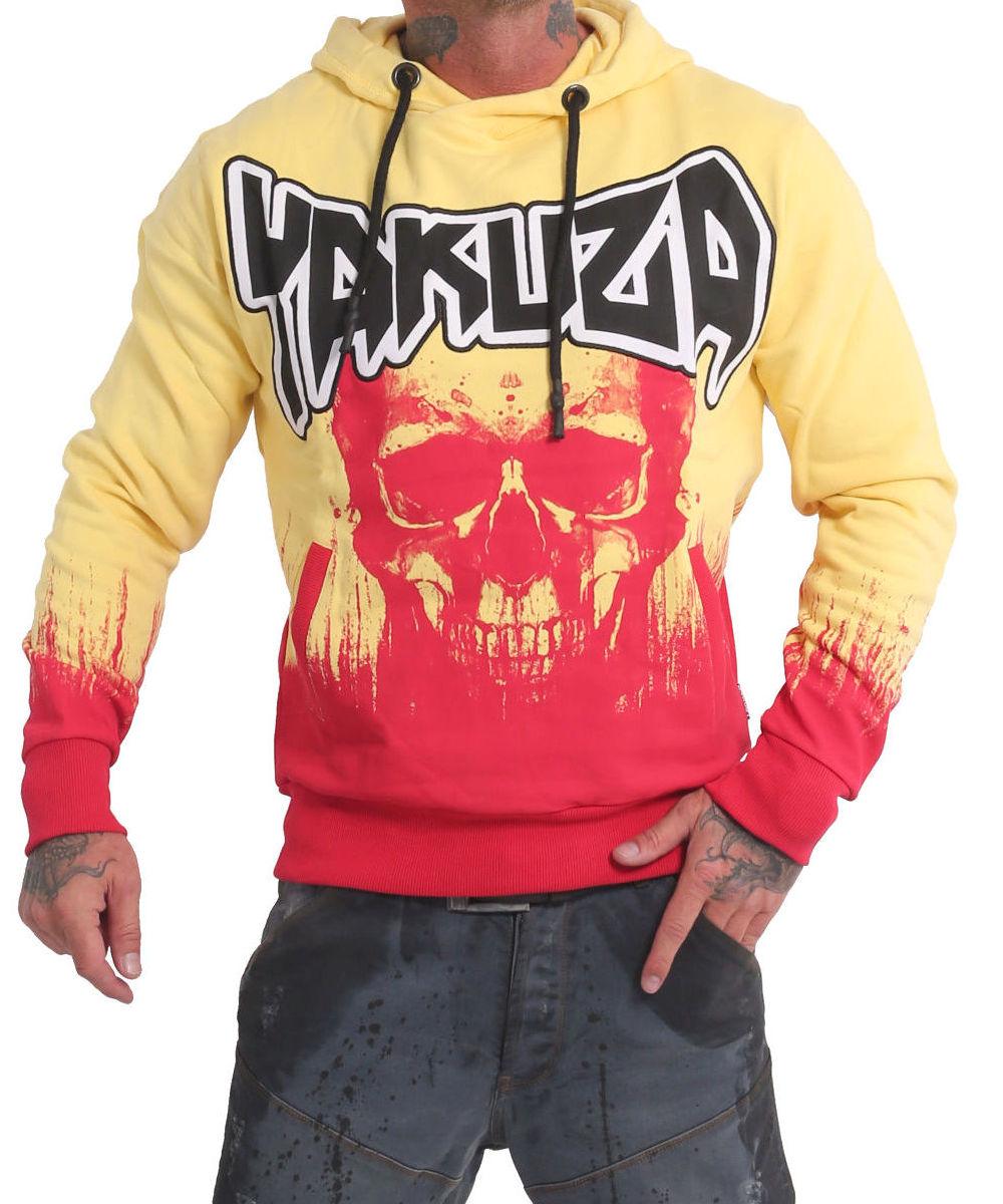 Yakuza Splatter Skull Hoodie HOB-17003 pale banana