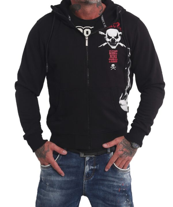 Yakuza Sweat-Jacke Duel The Clown Ninja HZB 17065 schwarz