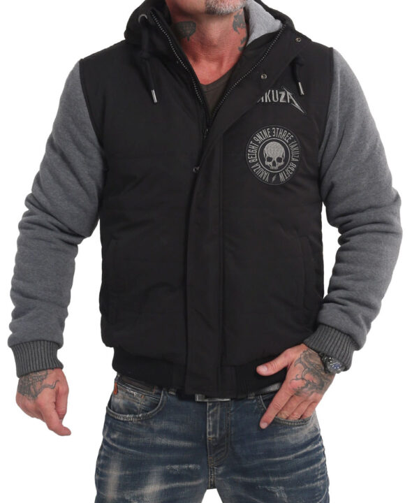 Yakuza Screaming Skull Westen Jacke JB-16057 black