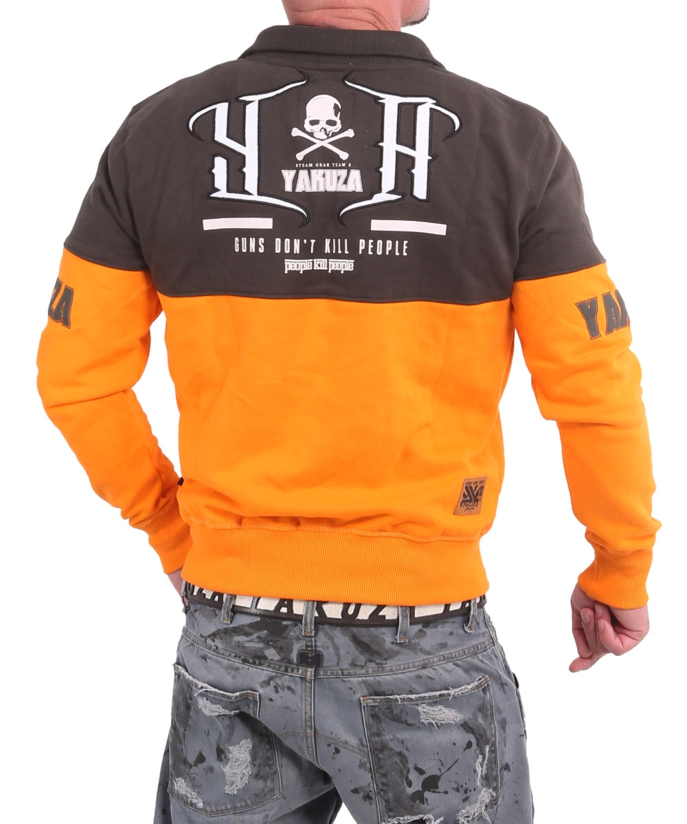 Yakuza Guns vs People Classic Trainingsjacke ZB 17018 orange/grau
