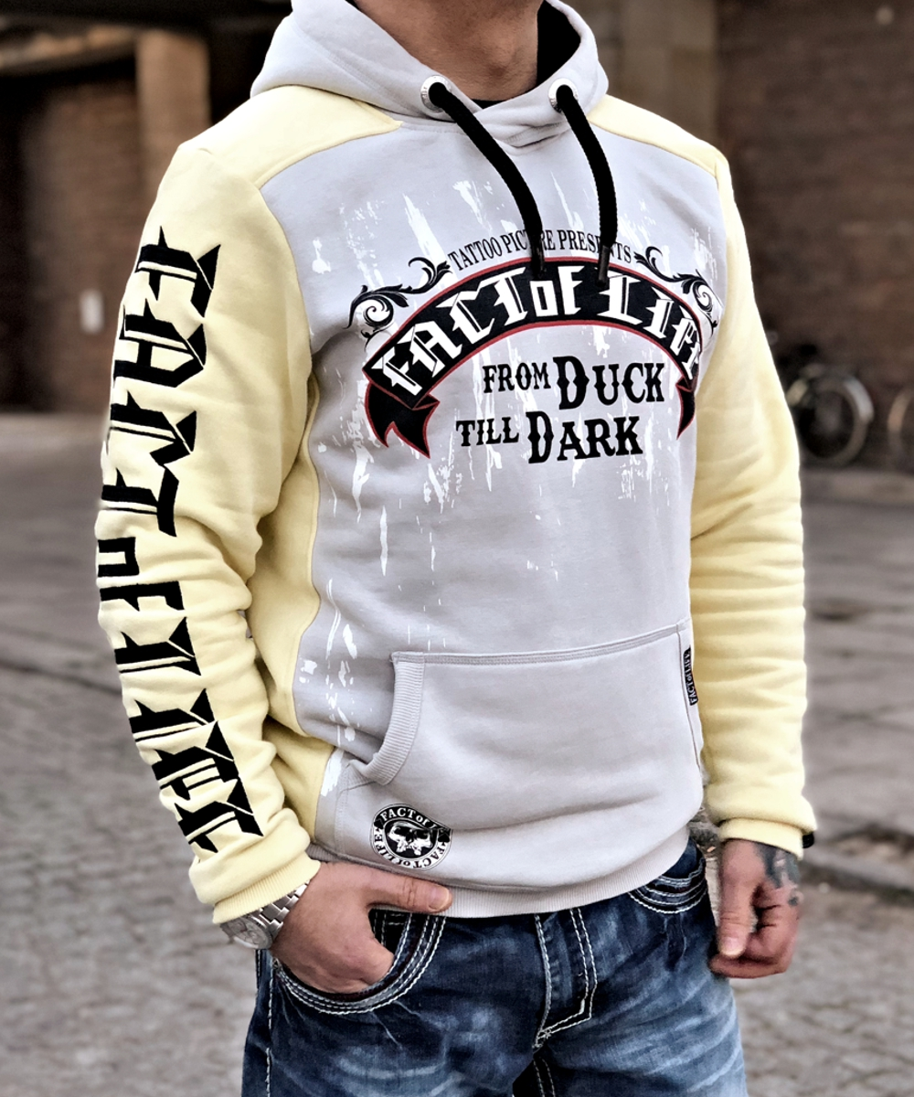 Fact of Life Hoodie From Duck Till Dark grey