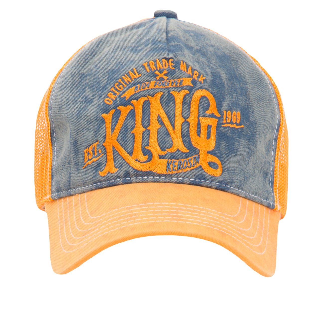 TRUCKERCAP MIT DENIM EINSATZ IM USED LOOK »KING«