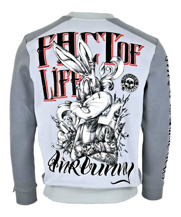 Fact of Life Herren Sweat Inkbunny SP-01 light frost grey