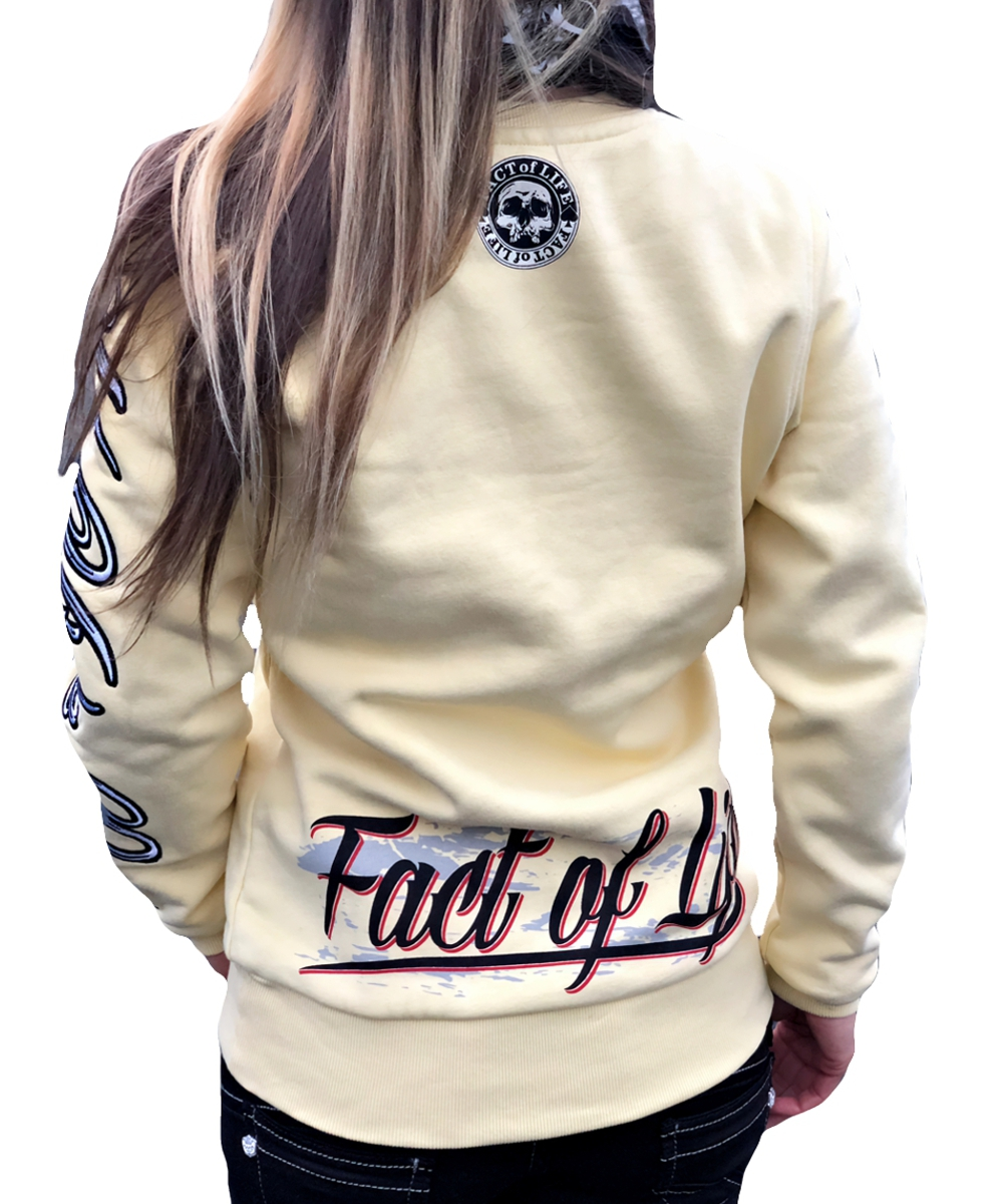 Fact of Life Sweat- Pullover GSP-01 pale banana