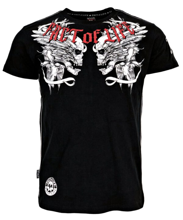 "Fact of Life T-Shirt ""Flying Skull"" TS-36 black"