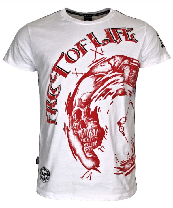 "Fact of Life T-Shirt ""Clockwise"" TS-40 weiß"