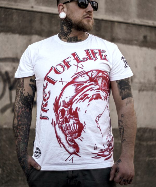 "Fact of Life T-Shirt ""Clockwise"" TS-40 weiß"