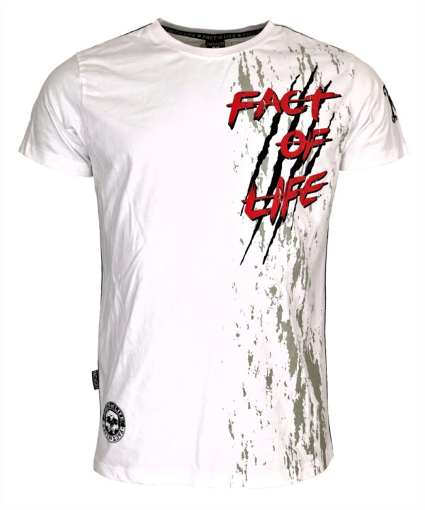 "Fact of Life T-Shirt ""Wolf Claw"" TS-42 weiß"