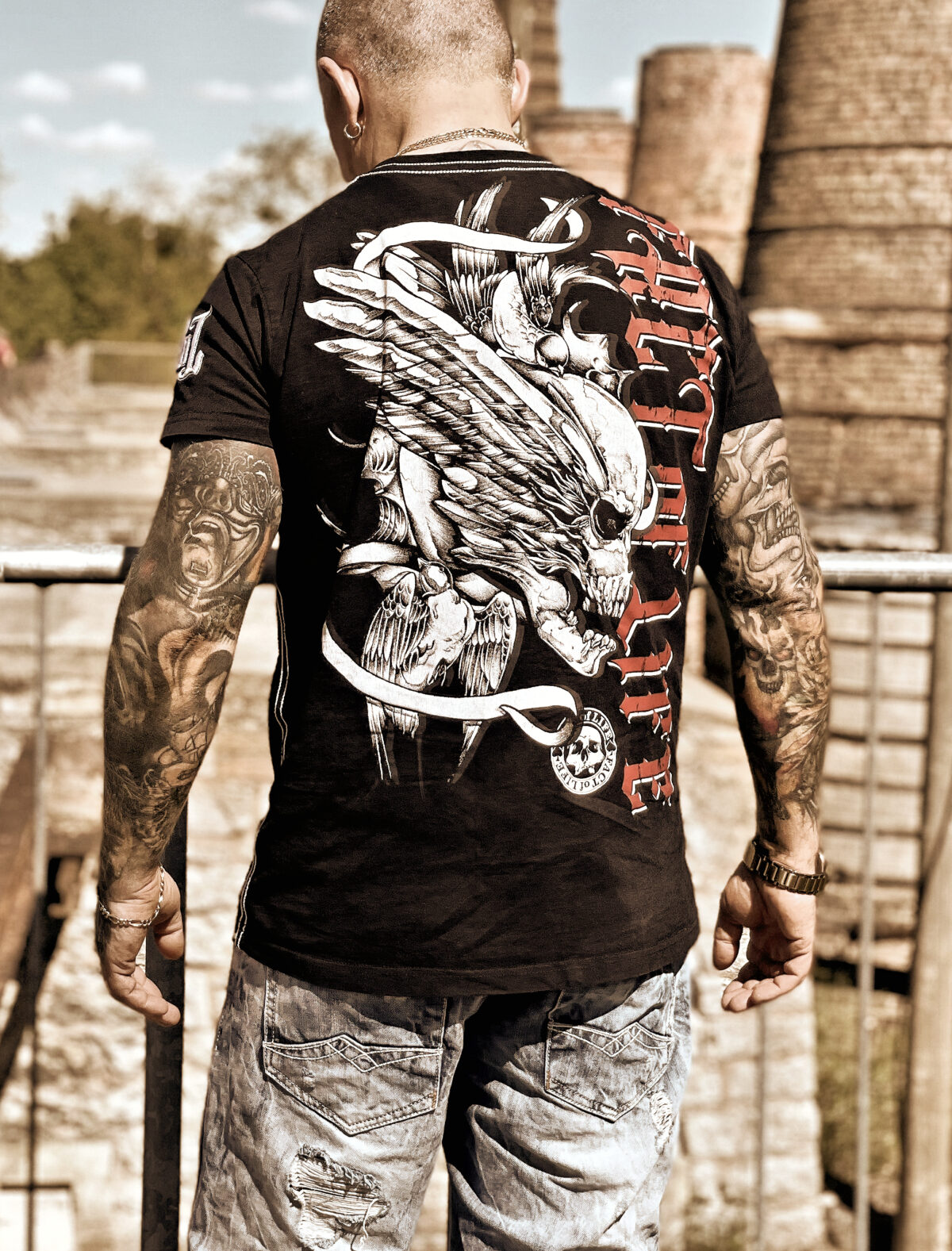 "Fact of Life T-Shirt ""Flying Skull"" TS-36"