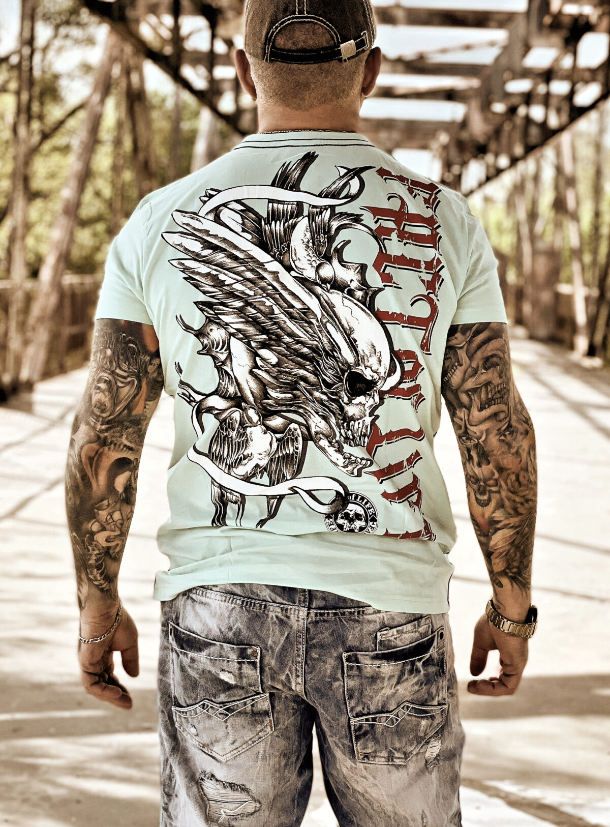 "Fact of Life T-Shirt ""Flying Skull"" TS-36 mint"