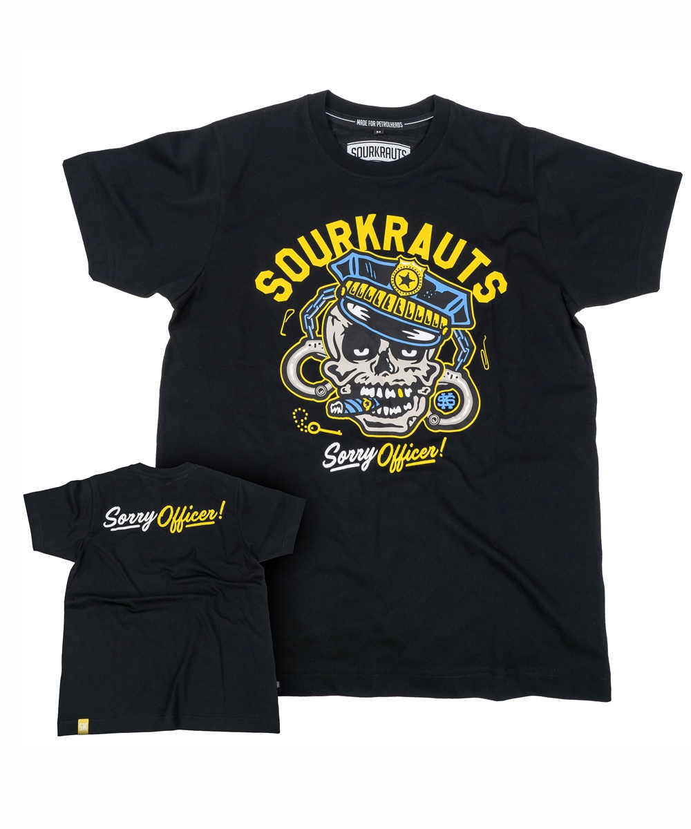 Sourkraut Herren T-Shirt Officer Flower