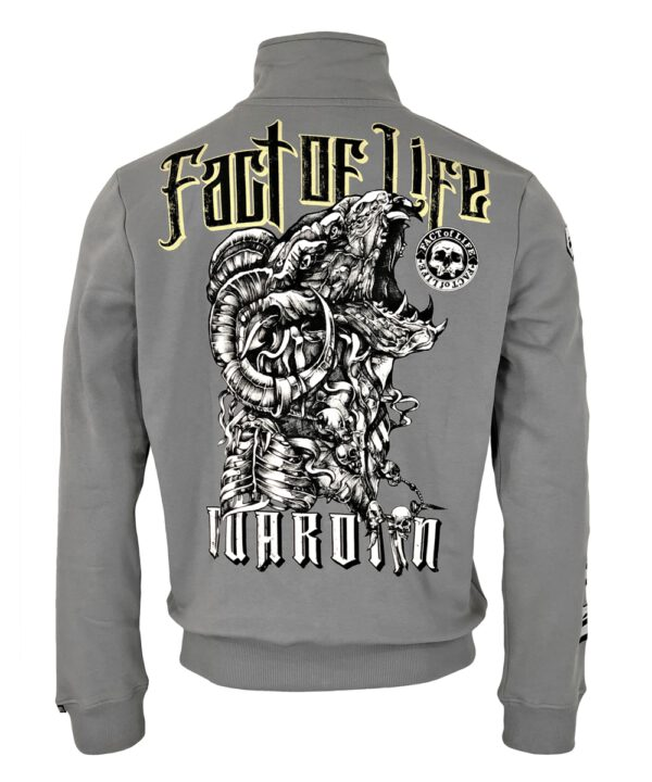 "Fact of Life Herren Sweat-Jacke ""Guardian"" SJ-03 frost grey"