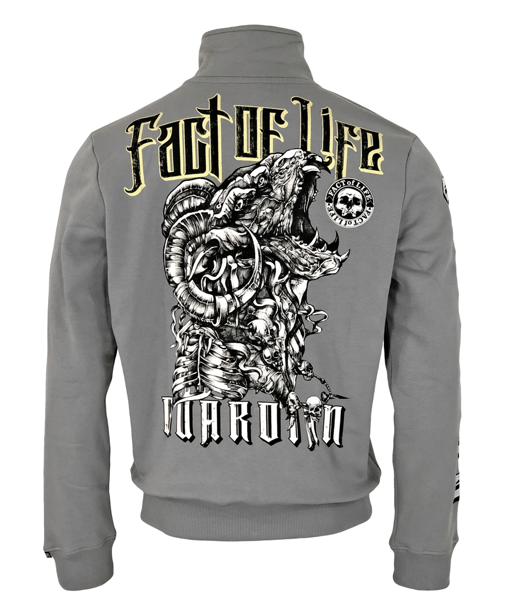 "Fact of Life Herren Sweat-Jacke ""Guardian"" SJ-03 frost grey"