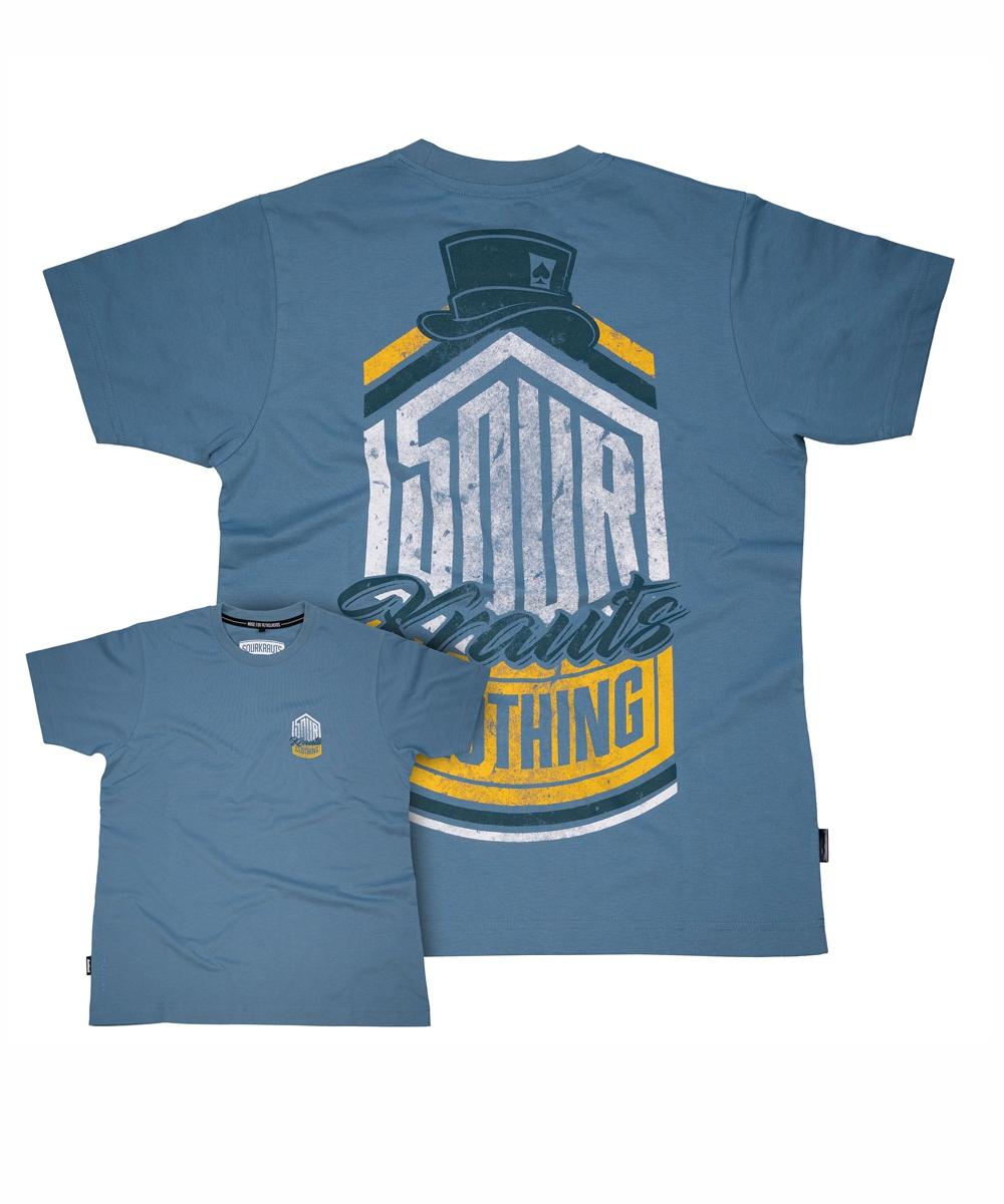Sourkraut Herren T-Shirt Uwe blau