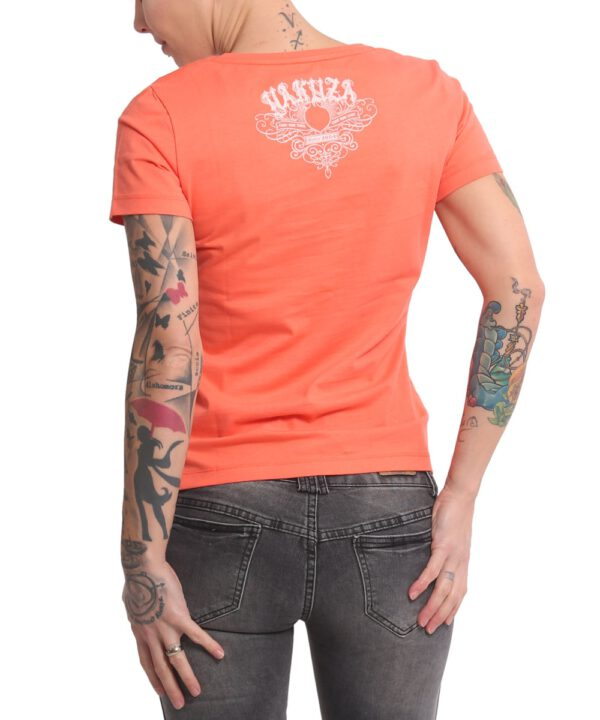 Yakuza Massive V-Neck T-Shirt GSB 16125 living coral