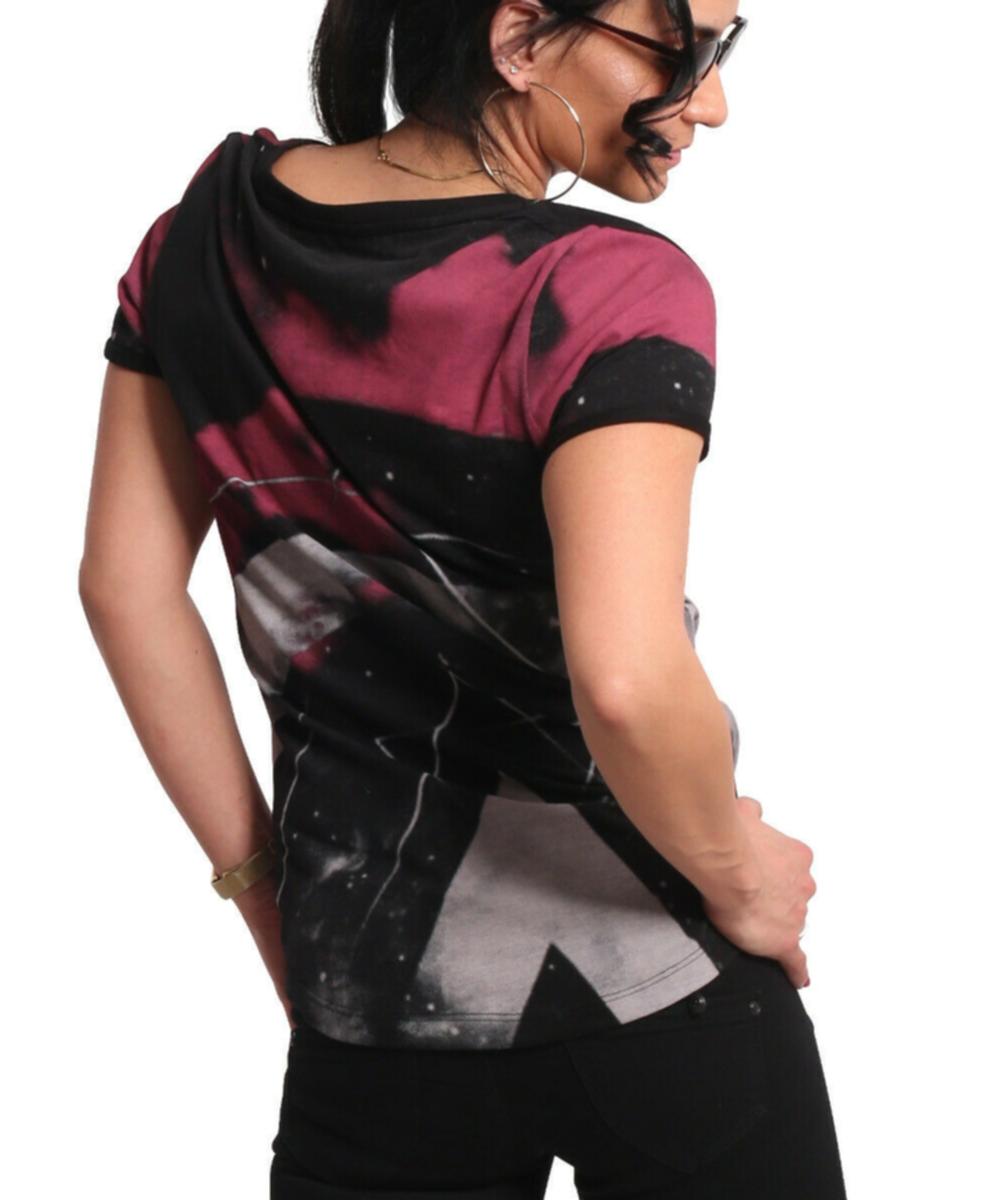Yakuza Spacy V-Neck T-Shirt GSB-17137 black