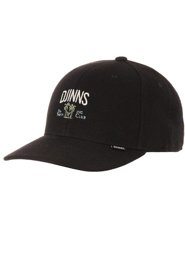 Djinns Snapback 6P TrueFit Nothing Club Piquè black