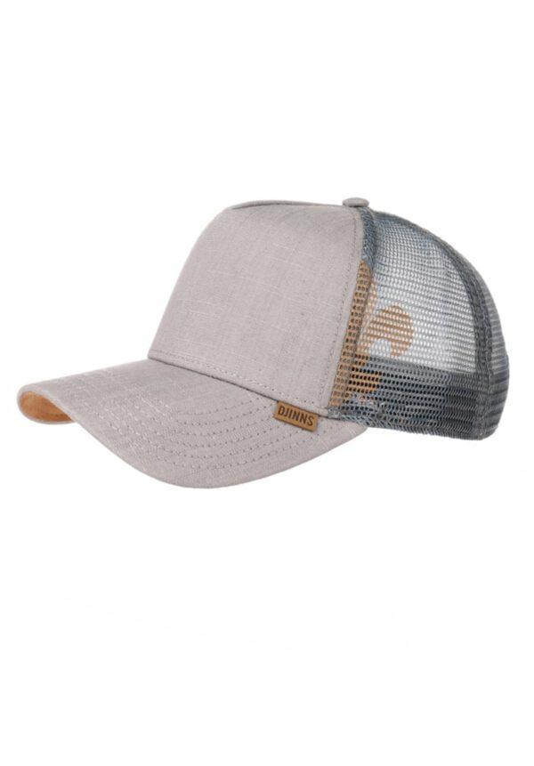 Djinns Linen Snapback Mesh Cap grey